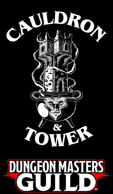 A tower growing out of a cauldron